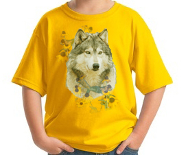 Handsome Alpha Male Wolf adorns this Wolf tee