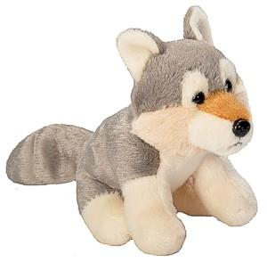 This plush Wolf is way too cute.