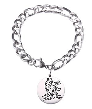 New Stainless Steel Wolf Charm Bracelet for 2020.