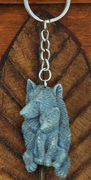 This wolf keychain is so sweet.