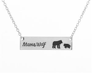New necklace design perfect for a Mom who loves Wolves.