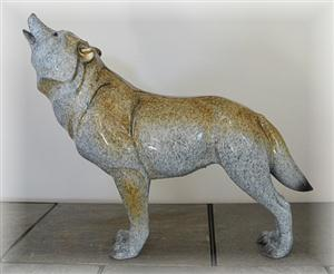 Beautiful and large Wolf figurine.