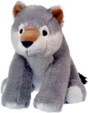 Darling Plush Gray Wolf from the Wild Republic