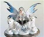 View details for this Arctic Fairy with Wolves Figurine