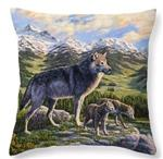 Den Mother Wolf Pillow