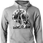 View details for this Owning the Moon Wolf Hoodie-M