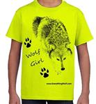 Wolf Girl Child's T Shirt - CS