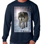 Wolf Walk Long Sleeve T Shirt-S
