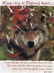 Autumn Encounter Wolf Notecard