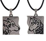 Best Friends Wolf Necklaces
