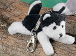 View details for this Black & White Husky Keychain