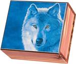 Blue Wolf Small Cedar Box