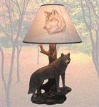 Denizen of Twilight Wolf Lamp