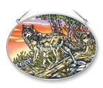 End of the Day Wolf Fine Art Glass