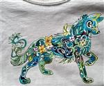 Flower Power Child's Wolf T Shirt-CM