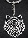 View details for this Geo Wolf Keychain