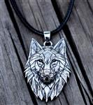 Geo Wolf Necklace