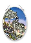 Got Your Back Wolf Fine Art Glass