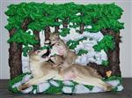 Gray Wolves Diorama