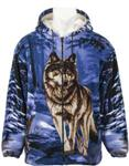 View details for this Handsome Wolf Blue Jacket - L