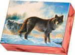 View details for this Hearts Afire Wolf Cedar Box