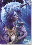 His Moonlit Creations Wolf Birthday Card