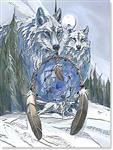 Hold a Dream Wolf Birthday Card