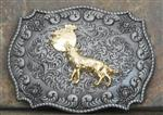 Howl at the Moon Wolf Belt Buckle