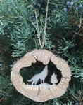 Tree Bark Wolf Ornament