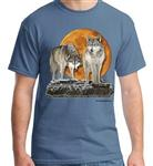 View details for this Hunter's Moon Wolf T Shirt - L