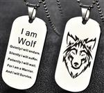 View details for this I Am Wolf Dogtag