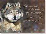 Live the Life Wolf Birthday Card