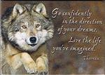 Live the Life Wolf Magnet