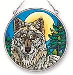 Midnight Watch Wolf Suncatcher