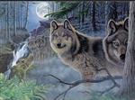 View details for this Mystical Moonlight Wolf Paint by Number Kit