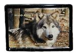 View details for this Wolf Framed Easel Magnet - Niko Akni