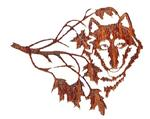 View details for this Northwoods Wolf Metal Wall Art