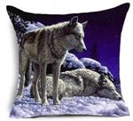 On Guard Wolf Pillow