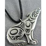 Primal Wolf Howl Necklace