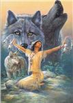 View details for this Sacred Dream Wolf Birthday Card