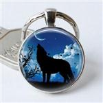 View details for this Wolf Howl Silhouette Keychain