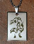 View details for this Silver Steel Wolf Neck Chain