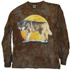 Stalking Wolf Long Sleeve T Shirt - XXL
