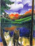 Three Wishes Wolf Birthday Card