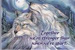 Together Wolf Magnet