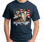 USA Wolves T Shirt - L
