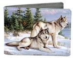 Watchful Pause Bifold Wolf Wallet