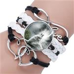 View details for this White Wolf Howl Bracelet