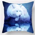 View details for this White Wolf Reflection Pillow