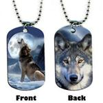 View details for this Wolf Dog Tag Neckchain